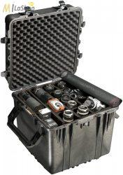 Peli 0350 kocka alakú műanyag táska, védőtok, fotós táska (görgő külön rendelhető), választható felszereltséggel Belső: 508x508x508 mm