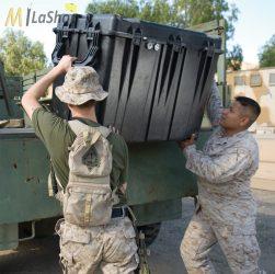 Peli 0500 műanyag (szállító) táska, védőtok (görgő és magasító láb külön rendelhető) Villás targoncával emelhető! Belső: 887x468x641  mm