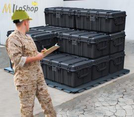 Peli Case 0550 műanyag védőtáska, védőtok (görgő és magasító láb külön rendelhető) Villás targoncával emelhető Belső: 1208x611x449 mm