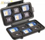 PELI Case 0915 SD memóriakártya tartó tok, Belső: 122x57x14 mm