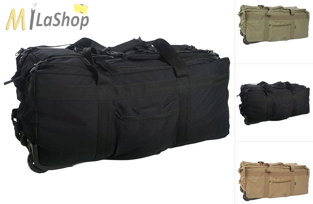 Mil-Tec kerekes - gurulós utazótáska   hátizsák - több színben - kb.118 l 1989419449