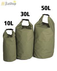 Mil-Tec Drybag szállító zsák, extra erős, választható: 10-30-50 literes, zöld színben