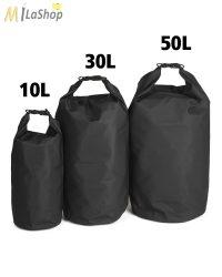 Mil-Tec Drybag szállító zsák, extra erős, választható: 10-30-50 literes, fekete színben
