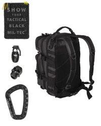 Mil-Tec hátizsák TACTICAL BLACK színben - 20 l