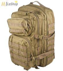 Mil-Tec taktikai hátizsák 36 literes, coyote/barna