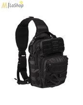 Mil-Tec egypántos hátizsák vagy mellkastáska TACTICAL BLACK színben - 10 l