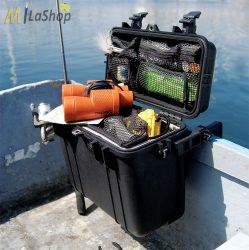Peli Case 1430 műanyag védőtáska, védőtok, fotós táska, választható felszereltséggel Belső: 345x146x297 mm