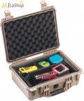 Peli Case 1450EU műanyag védőtáska, védőtok, fotós táska - több színben, választható felszereltséggel Belső: 371x259x152 mm