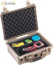 Peli 1450 műanyag táska, védőtok, fotós táska - több színben, választható felszereltséggel Belső: 371x259x152 mm