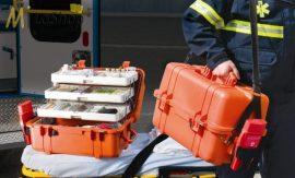 Peli Case 1460 EMS orvosi műanyag védőtáska - narancs színben