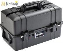 Peli AIR CASE 1465 műanyag táska, védőtok - fekete színben, választható felszereltséggel Belső: 473 x 254 x 278 mm