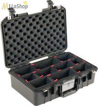 Peli AIR CASE 1485 műanyag táska, védőtok - fekete színben, választható felszereltséggel Belső: 451x259x156 mm