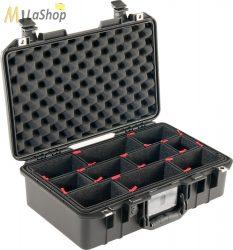 Peli AIR CASE 1485 műanyag védőtáska, védőtok - fekete színben, választható felszereltséggel Belső: 451x259x156 mm