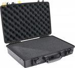 """Peli 1490 műanyag táska, tok 15"""" colos (38,1 cm) laptophoz/notebookhoz, választható felszereltséggel Belső: 451x289x105 mm"""