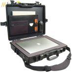 """Peli 1495 műanyag táska, tok 17"""" colos laptophoz/notebookhoz -Standard: szivacs, irattartó, vállpánt. Belső: 479x333x97 mm"""