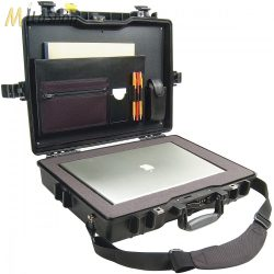 """Peli Case 1495 műanyag védőtáska, tok 17"""" colos laptophoz/notebookhoz -Standard: szivacs, irattartó, vállpánt. Belső: 479x333x97 mm"""