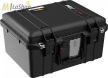 Peli AIR CASE 1507 műanyag táska, védőtok - fekete színben, választható felszereltséggel Belső: 385x289x216 mm