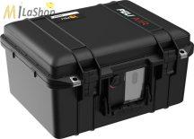 Peli AIR CASE 1507 műanyag védőtáska, védőtok - fekete színben, választható felszereltséggel Belső: 385x289x216 mm
