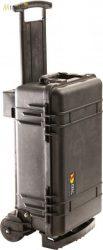 Peli 1510M gurulós műanyag táska, védőtok terepre, választható felszereltséggel  Belső: 501x279x193 mm