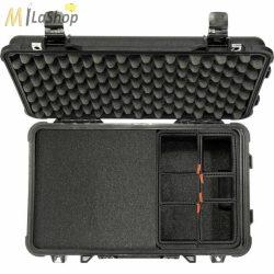 Peli Case 1510TPF gurulós műanyag védőtáska, Carry On bőrönd, Hybrid betéttel (szivacs+TrekPak) Belső: 502x280x193 mm