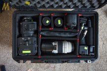 Peli AIR CASE 1535 gurulós műanyag táska, védőtok - fekete színben, választható belső felszereltséggel Belső: 518x284x183 mm