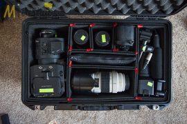 Peli AIR CASE 1535 gurulós műanyag védőtáska, védőtok - fekete színben, választható belső felszereltséggel Belső: 518x284x183 mm