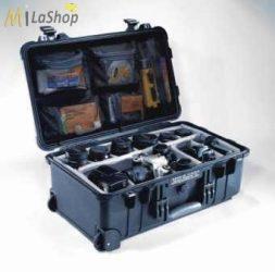 Fotós táska betét:  tépőzáras választófal (divider set),  szivaccsal a fedélben, Peli 1550 táskához