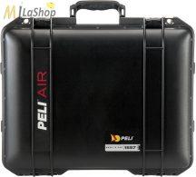 Peli AIR CASE 1557 műanyag táska, védőtok - fekete színben, választható felszereltséggel Belső: 440x330x248 mm