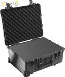 Peli Case 1560 gurulós műanyag védőtáska védőtok, fotós táska - fekete színben, választható felszereltséggel Belső: 518x392x229 mm