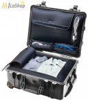 Peli Case 1560 LOC gurulós műanyag védőtáska utazáshoz (alul ruhás pakoló résszel, felül laptop tartóval), Belső: 518x392x229 mm