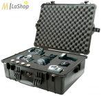 Peli 1600 műanyag táska, védőtok, EMS orvosi táska, fotós táska - több színben, választható felszereltséggel 545x419x200 mm