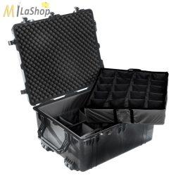 Fotós táska betét: tépőzáras választófal (divider set),  szivaccsal a fedélben, Peli 1600-10-20-30-40-50-60-90 táskához