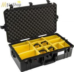 Peli AIR CASE 1605 műanyag védőtáska, védőtok - fekete színben, választható felszereltséggel Belső: 660x356x213 mm