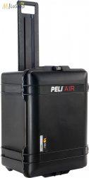 Peli AIR CASE 1607 gurulós műanyag táska, védőtok - fekete színben, választható felszereltséggel Belső: 535x402x295 mm