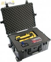 Peli Case 1610 gurulós műanyag védőtáska, védőtok, fotós táska, kamera táska, választható felszereltséggel Belső: 551x422x268 mm