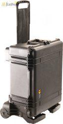 Peli 1610M gurulós műanyag táska, védőtok terepre, választható felszereltséggel Belső: 553x424x270 mm