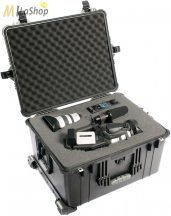 Peli Case 1620 gurulós műanyag védőtáska, védőtok, fotós táska, kamera táska, választható felszereltséggel Belső: 543x414x319 mm