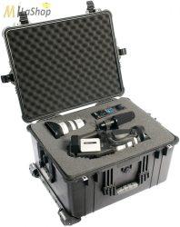 Peli 1620 gurulós műanyag táska, védőtok, fotós táska, kamera táska, választható felszereltséggel Belső: 543x414x319 mm