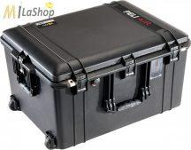 Peli AIR CASE 1637 gurulós műanyag táska, védőtok - fekete színben, választható felszereltséggel Belső: 595x446x337 mm