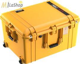 Peli AIR CASE 1637 gurulós műanyag táska, védőtok - narancs, ezüst, sárga színben, választható felszereltséggel Belső: 595x446x337 mm