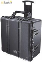 Peli 1640 gurulós műanyag táska, védőtok, fotós táska, kamera táska, választható felszereltséggel Belső: 602x610x353 mm