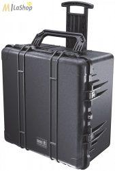 Peli Case 1640 gurulós műanyag védőtáska, védőtok, fotós táska, kamera táska, választható felszereltséggel Belső: 602x610x353 mm