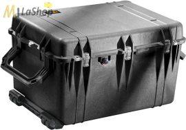 Peli Case 1660 gurulós műanyag védőtáska, védőtok, fotós táska, kamera táska, választható felszereltséggel Belső: 716x502x448 mm