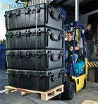 Peli 1730 gurulós műanyag táska, védőtok, választható felszereltséggel Belső: 863x609x317 mm