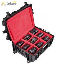 Explorer gurulós fotó/videó védőtáska választófalas betétes hátizsákkal (5326BPHB), Belső: 538x405x250 mm