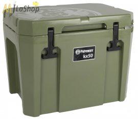 Petromax ultrapasszív hűtőtáska (akár 12 nap jégmegőrzés) olívzöld színben - 50 l