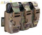 WAS (Warrior Assault Systems) lézervágott, tripla villanógránát/40 mm-es gránát tartó, IRR bevonattal - multicam színben