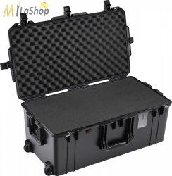Peli AIR CASE 1626 műanyag gurulós, kerekes védőtáska, védőtok - fekete színben, választható felszereltséggel Belső: 715 x 358 x 298 mm